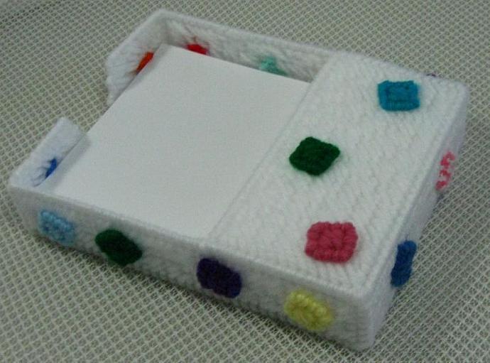 Scratch Paper Holder Festive Confetti Design for 4.25 x 5.5 inch paper