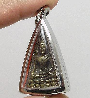phra Buddha shinnaraj Thai brass amulet pendant blessed for love attraction and