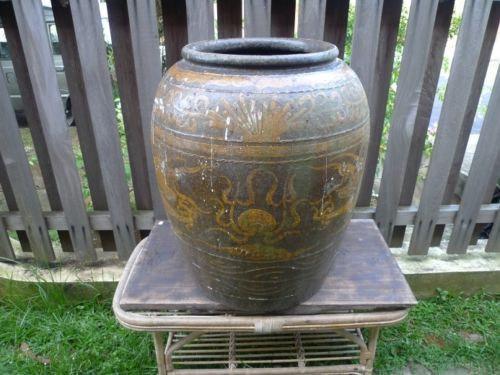 MASSIVE 720mm ANTIQUE water jar Vase Pot Pottery Basin Ceramic