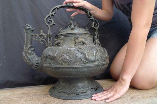world largest  AUTHENTIC 150years KETTLE BRASS Wealth Status Boiler