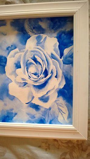 Blue rose on a sunny day