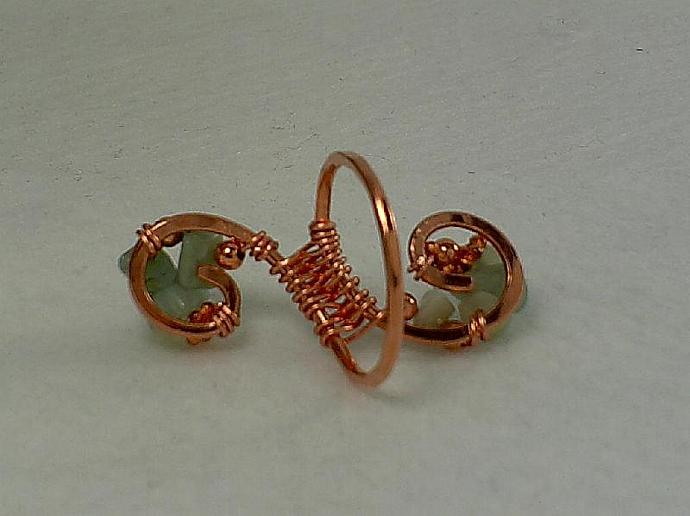 Copper and Amazonite Ring-Item # 0158