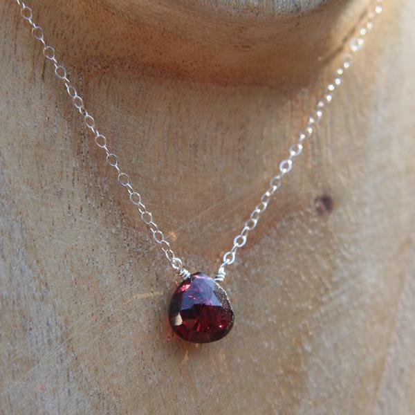 Garnet Simplicity Necklace