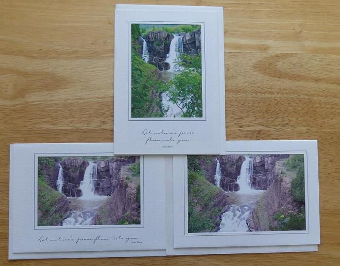 Collection of 3 photo cards, Grand Portage State Park, Minnesota greeting cards,