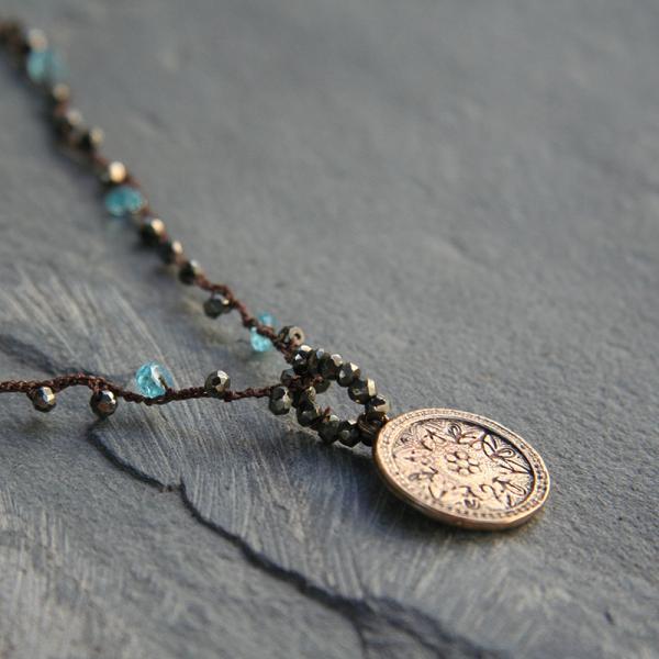 Bronze Medallion Necklace