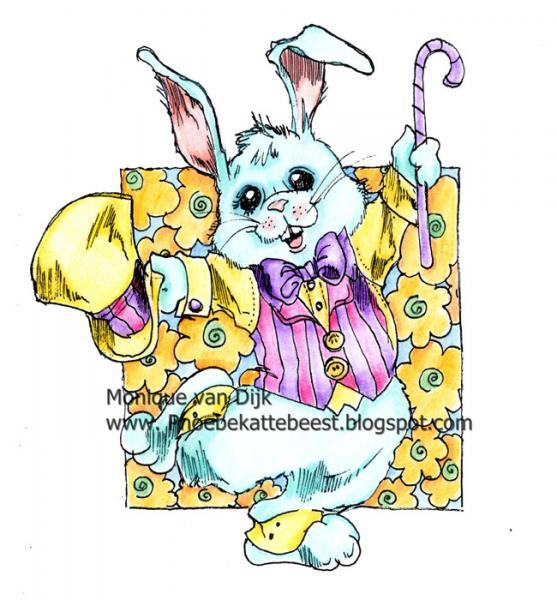 2014 Easter Bunny digi stamp