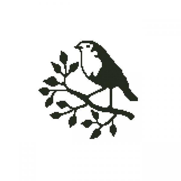 ALL STITCHES - BIRD ON BRANCH CROSS STITCH PATTERN .PDF -997