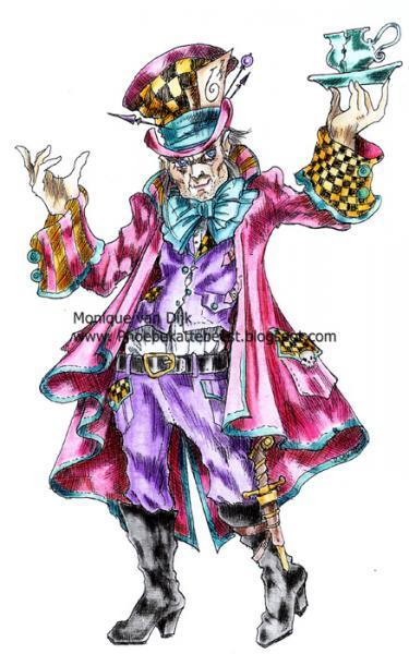 The Insane Hatter digi stamp
