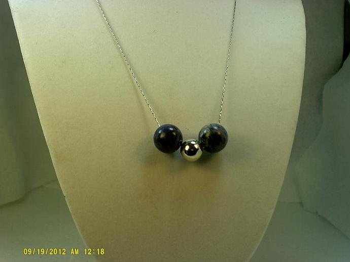 Sterling and Sodalite Necklace-Item # 0151