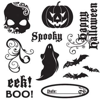 """Little Yellow Bicycle Stamp Set """" Frightful Collection """"- Brand New"""