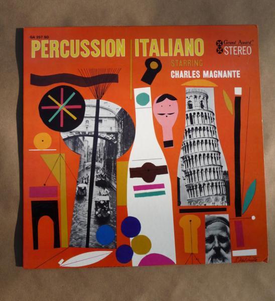 """1961 Vinyl Record Album- """"Percussion Italiano"""" by Grand Award Records"""