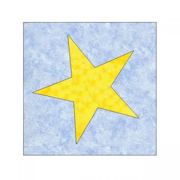 ALL STITCHES - STAR PAPER PIECING QUILT BLOCK PATTERN .PDF -122A