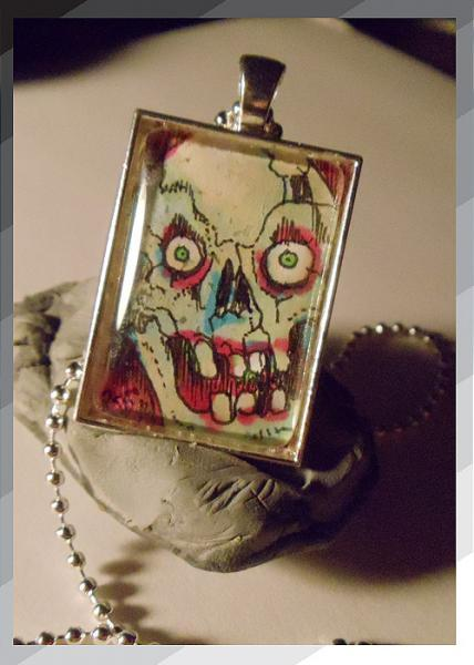 Scary Skull Necklace 1 of a kind