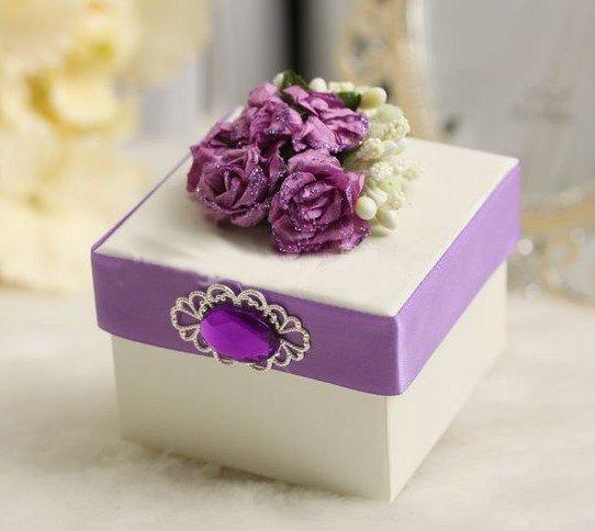Designer Favor Box XT-F2-Z-002 Purple (Set of 25)