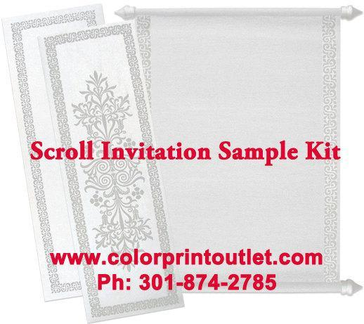Classic invites & Scroll Invitation Sample Kit