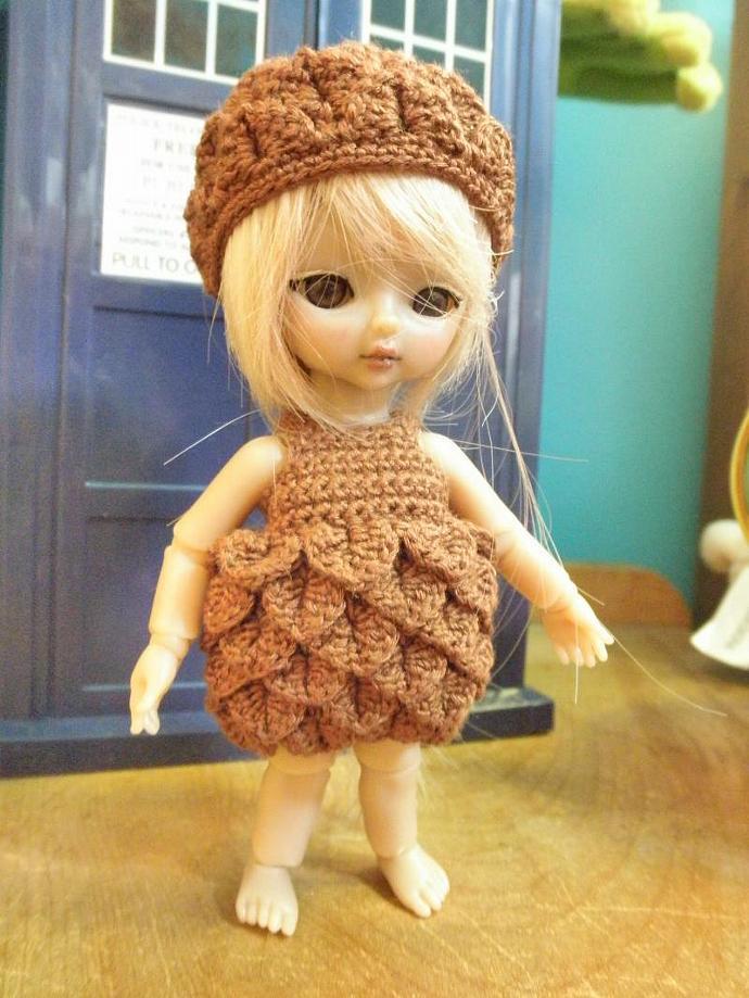 Hujoo Baby, Jun Planning Ai Chocolate Petal Dress