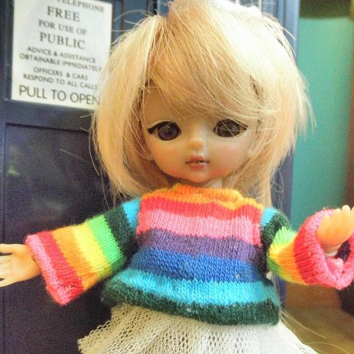 Rainbow stripes shirt for Hujoo Baby