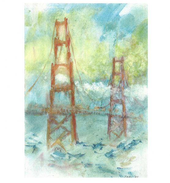 Golden Gate Bridge, San Francisco print, signed, no frame or mat