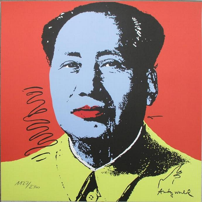 Andy Warhol lithograph Mao authenticated signed 1127/2400 II.91