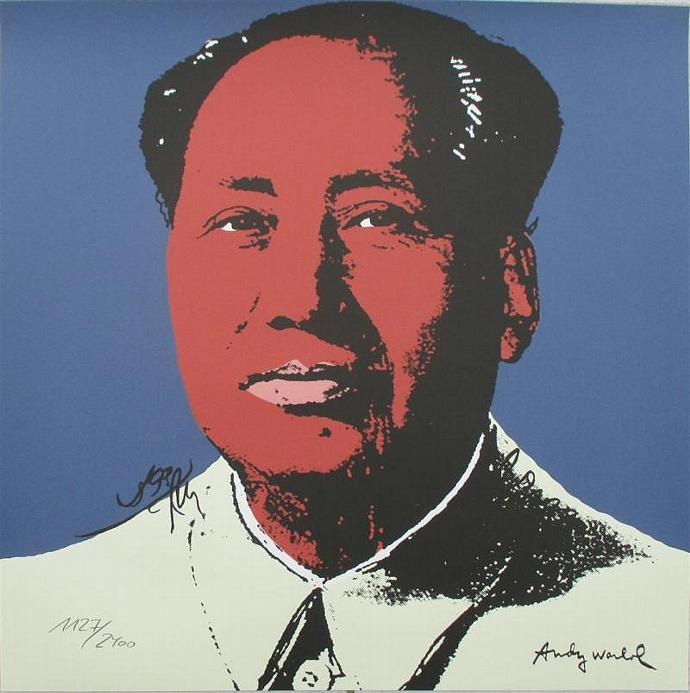 Andy Warhol lithograph Mao authenticated signed print 1127/2400 II.98