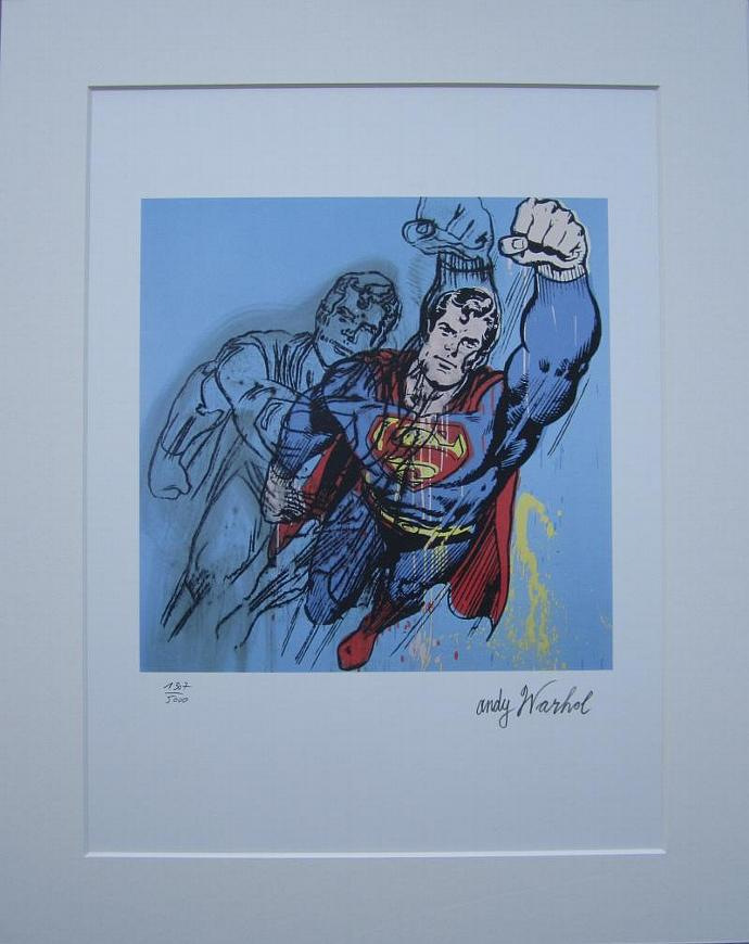 Andy Warhol print Superman lithograph authenticated