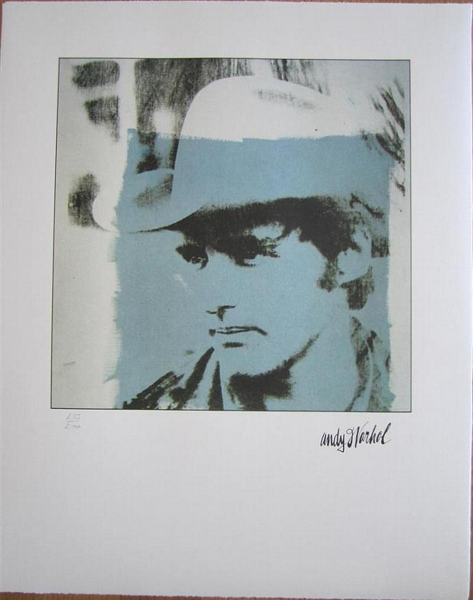 Andy Warhol lithograph Dennis Hopper authenticated signed print 259/ 2400