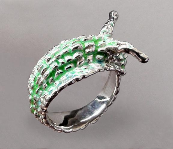 Original work Ring Snail Sterling Silver