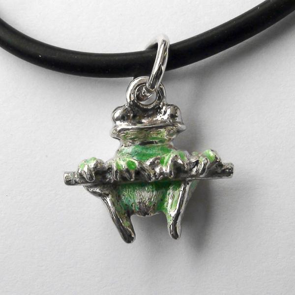 """Original work  Sterling Silver pendant """"Frog"""""""