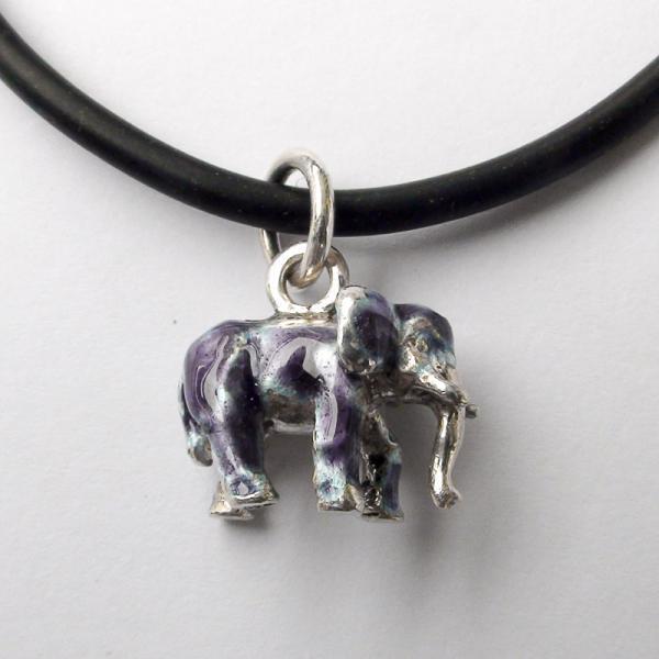 "Original work Sterling Silver pendant ""Elephant"""
