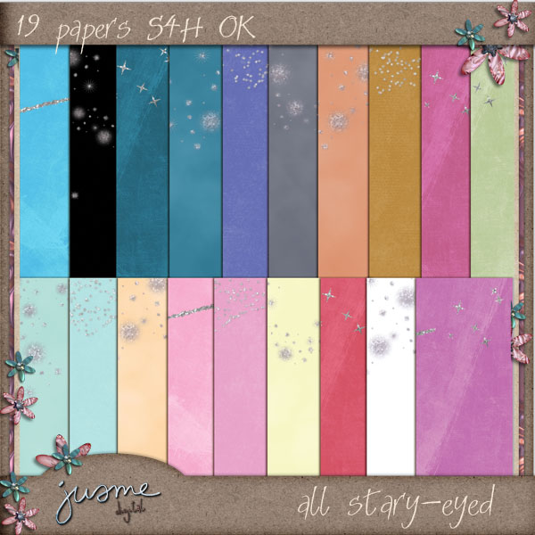 all stary-eyed digital scrapbooking papers