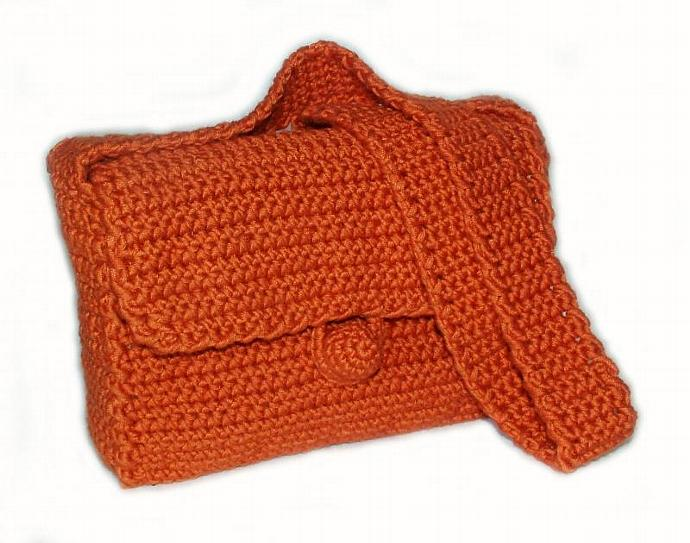 Basic Crochet Bagpurse Pdf Pattern For By Rensfibreart On Zibbet