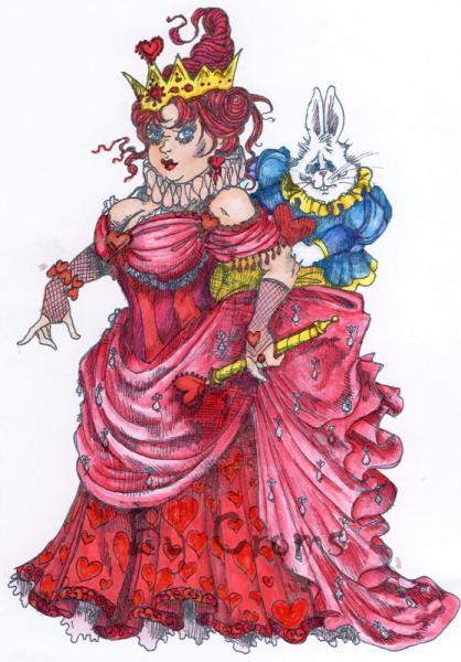The Crazy Queen of Hearts digi stamp