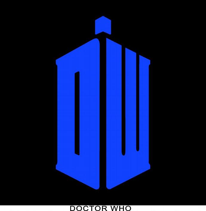 """DOCTOR WHO decal sticker 6""""x 3 1/4"""" blue vinyl"""
