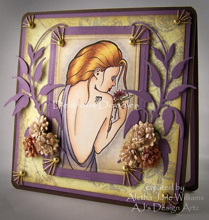 Zodiac Virgo Handmade Greeting Card