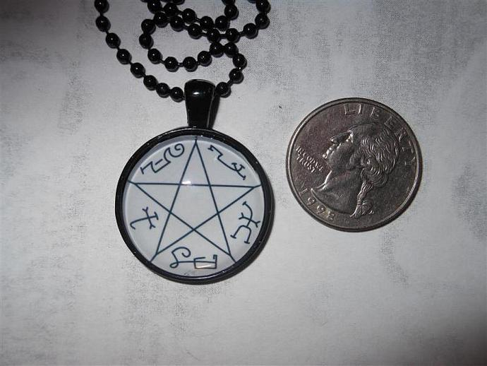 Supernatural inspired Devil's Trap pendant necklace - demon protection,  sigil, Sam Dean Winchester, pentagram, Crowley, star