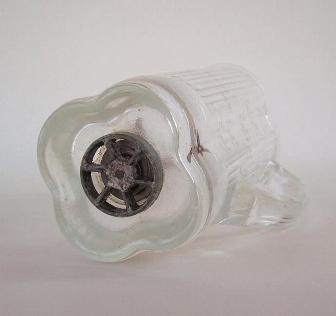 Vintage Waring Blender Jar Replacement Part glass cloverleaf (as-is, see