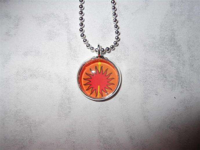Tiny Game of Thrones inspired House Martell pendant necklace - Song of Ice and