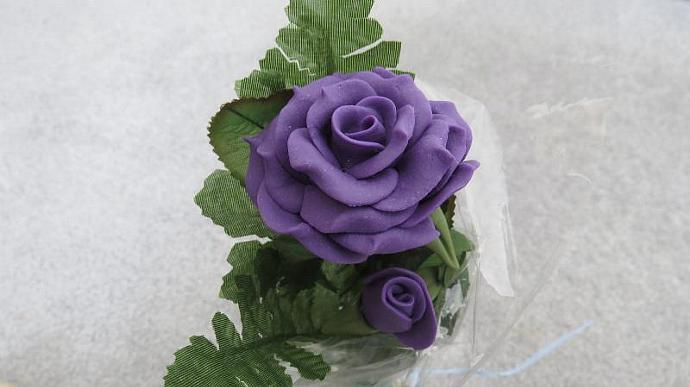 Purple Bread Dough Rose