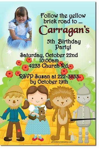 Wizard of Oz Legends of Oz Dorothy's Return Birthday Invitations