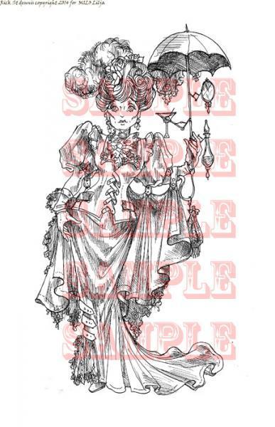 Stockholm Steampunk Chic  digi stamp