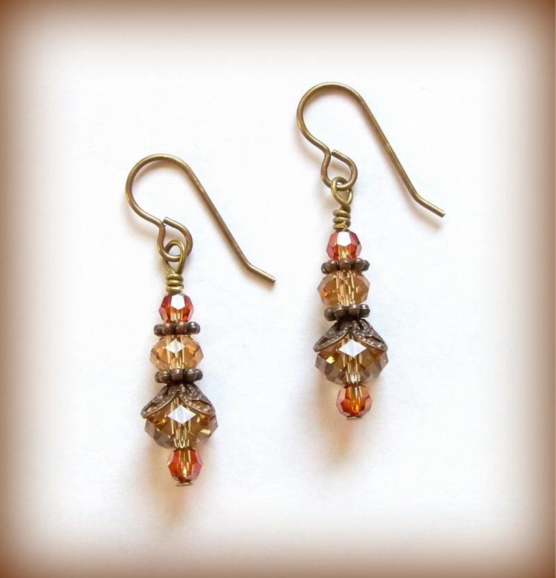 bbc91b739 Earrings Burnt Orange by DancingRainbows on Zibbet