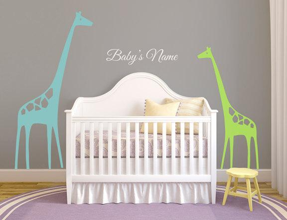 Giraffe's Wall Decal Theme for Baby's Room or Nursery
