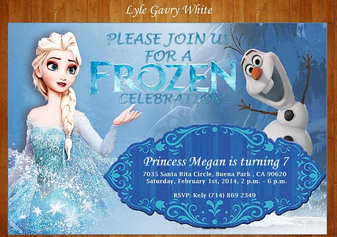 Frozen Invitation Elsa Invitation Anna by gavryparties on Zibbet