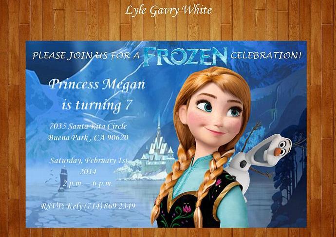 Frozen Invitation - Elsa Invitation - Anna Invitation - Zven - Kristoff - Olaf -