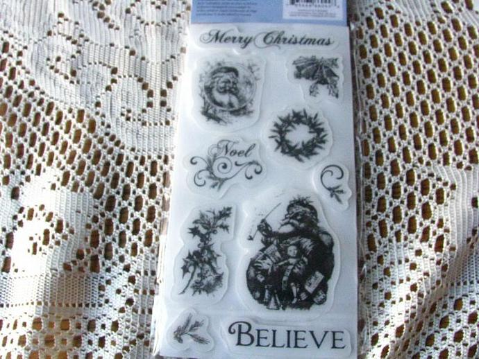 "Cloud 9 Designs- 4 x 8 ""Christmas"" Stamp Set-Brand New"