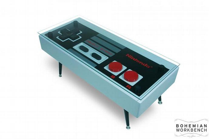 Nintendo Controller Coffee Table - FUNCTIONAL