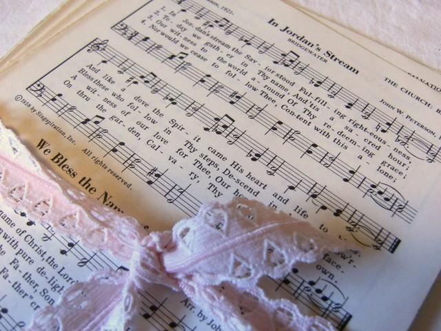 Bundle of Vintage Hymnal Music Sheet Pages