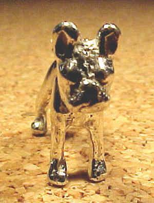 Boston Terrier 3D charm, sterling silver