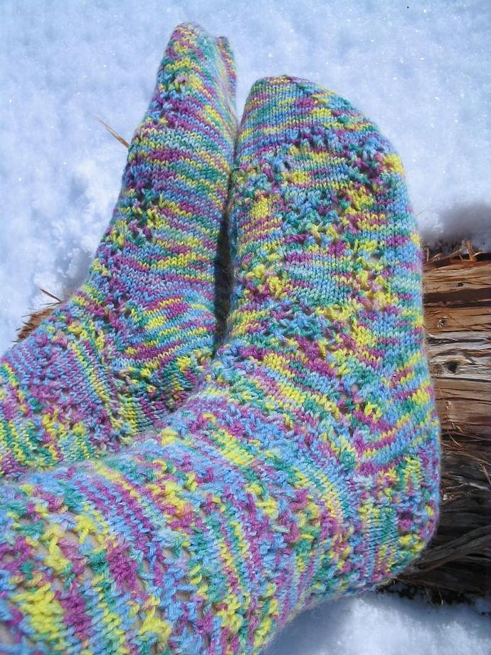Check Please!   Knitted Sock Pattern in PDF - Easy Experienced Beginner Knitting