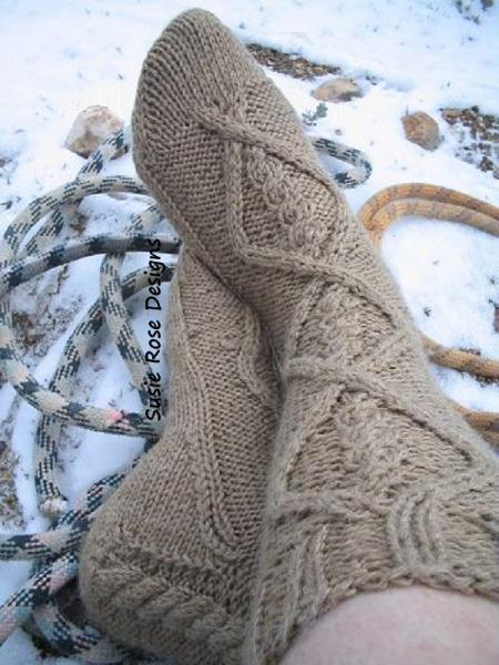 Yeti Knitted Sock Pattern in PDF - Easy Experienced Beginner Knitting